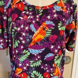 Colorful Cardinals Amelia Dress bu LuLa Roe 3X